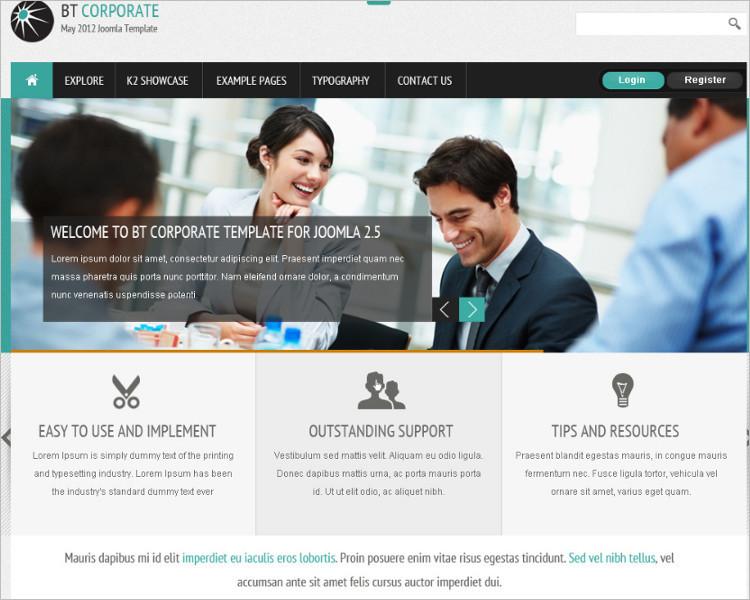 Corporate Mobile Business Joomla Template