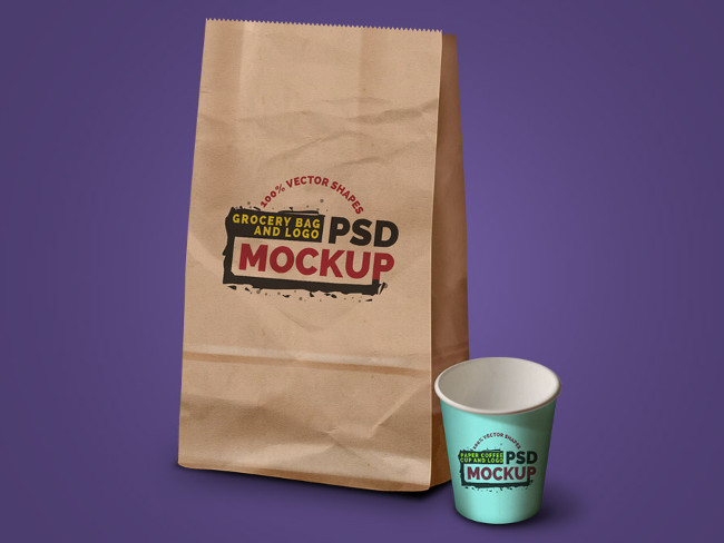 Creative Coffee Cup Pack Mockup