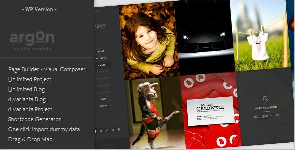 Creative Full Screen Website Template
