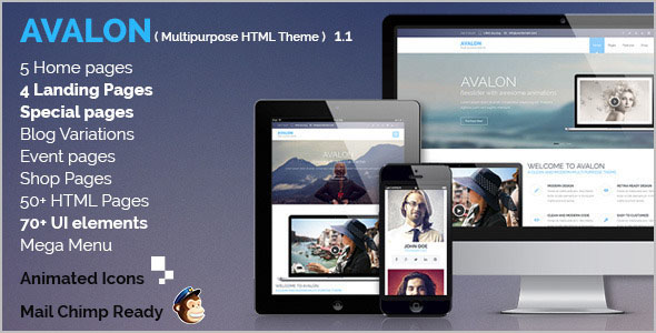 Creative HTML Grid Layout Template