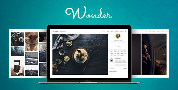 Creative Photo Blog WordPress Template