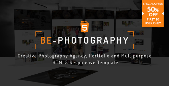 Creative Photography Agency Bootstrap Theme