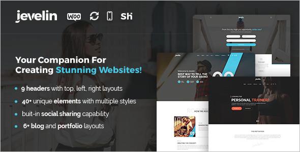 Creative Stunning WordPress Template