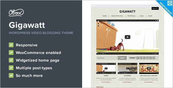 Creative Video WordPress Template