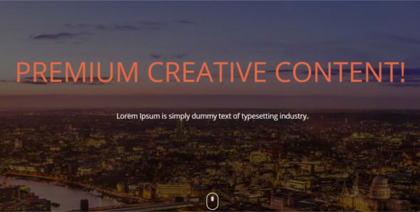 Creative Website Layout Template