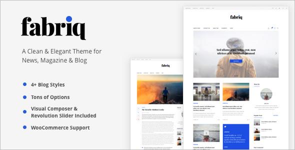Creative WordPress Blog Template