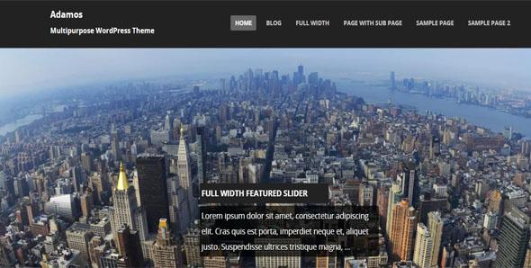 Customiz Full-Screen Website Template