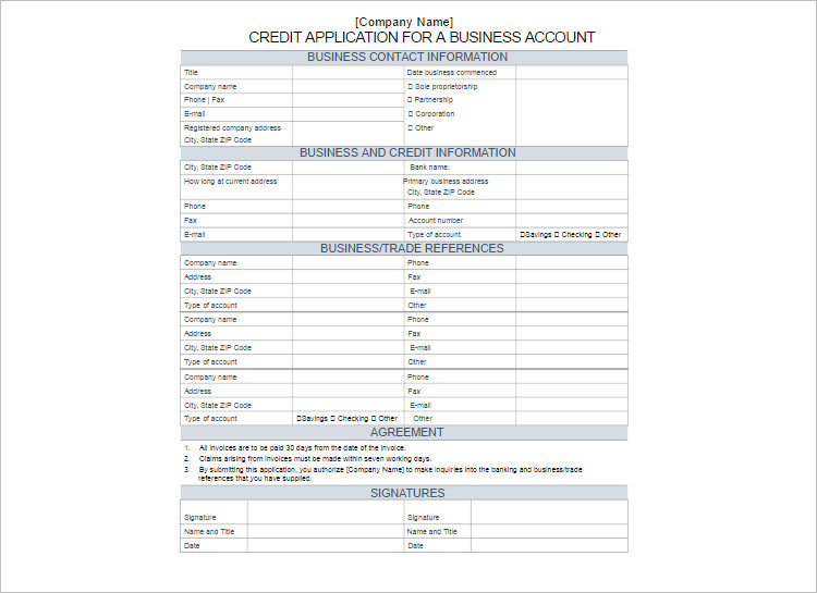 24 credit application form templates free word pdf formats customize creditr application form templates flashek Gallery