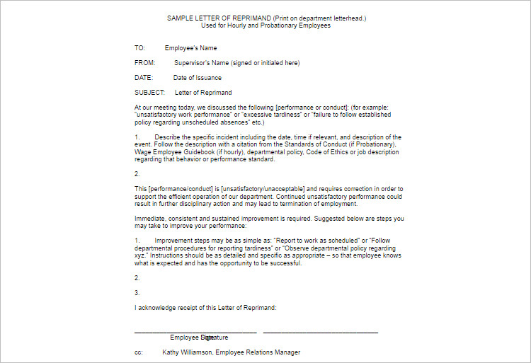 Customize Employe Write Up Template Form