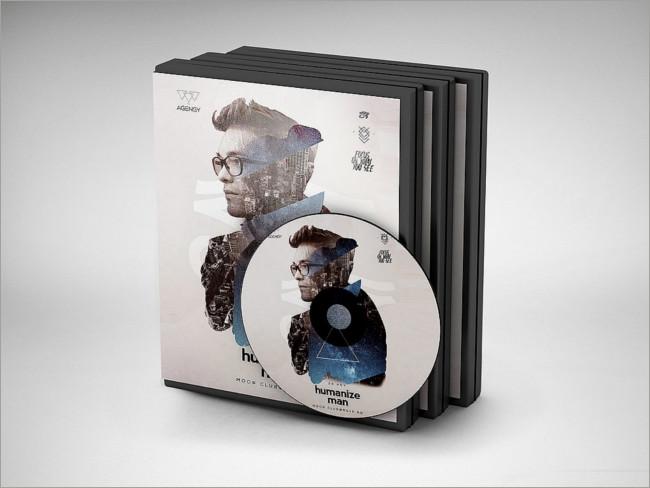 DVD Disk & Cover Mockups