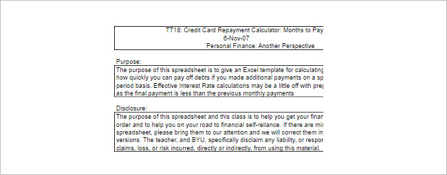 Debt Payoff Calculators Template