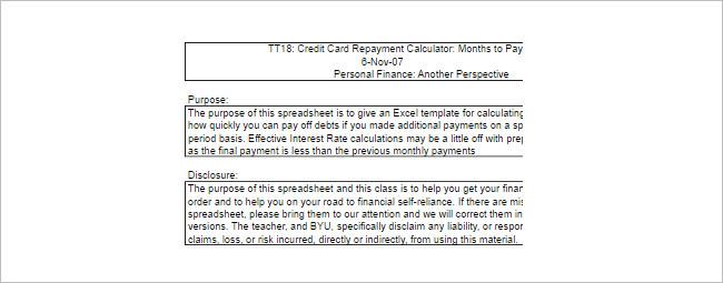 Debt Payoff Calculators Template