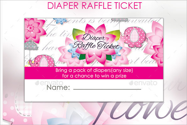Diaper Raffle Ticket Template