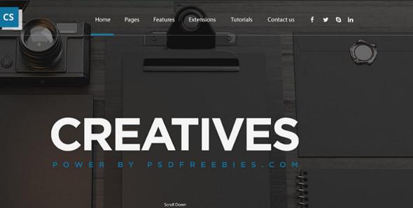 Digital agency Web Layout Template