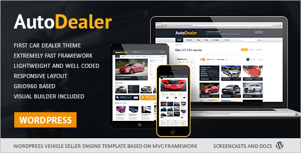 Download Automotive WordPress Template