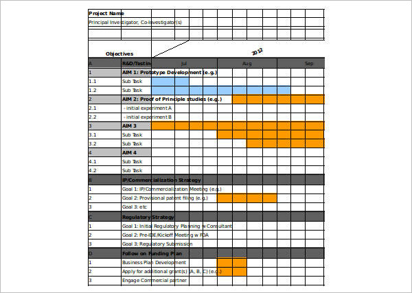 Download Gantt Chart Excel Template