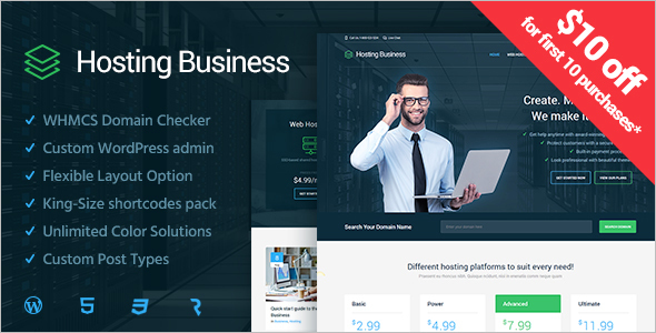 Download Hosting WordPress Template