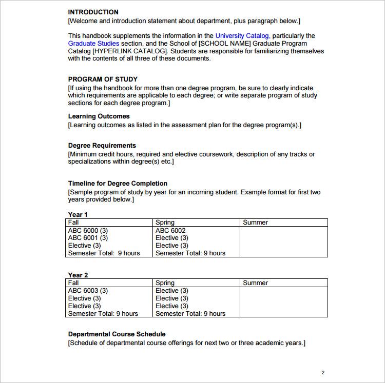 Download Program template Word