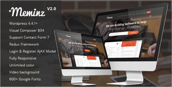 Download SoftWare WordPress Template
