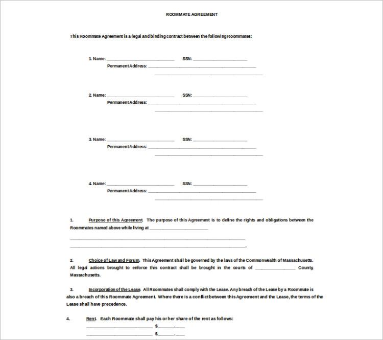 Download room rental agreement Template