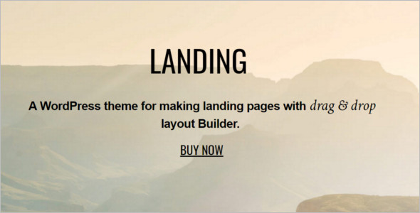 Drag & Drop Landing WordPress Template