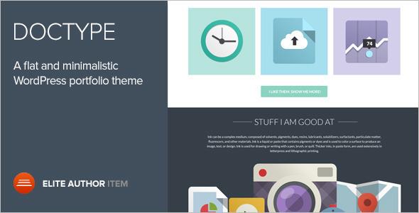 Dribbble Flat Blog WordPress Template
