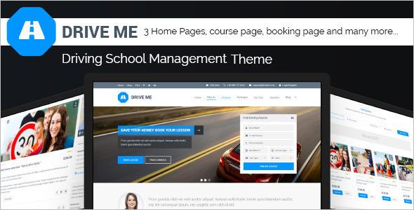 Driving School WordPress Template