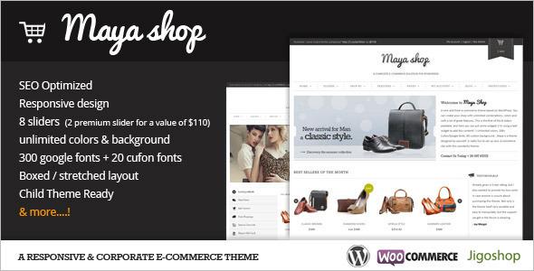 E-Commerce Skin WordPress Template