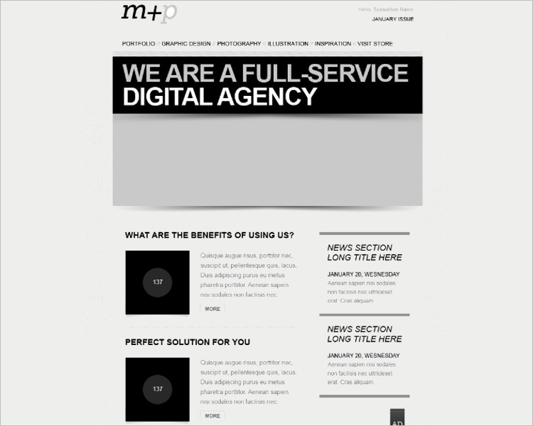 34 Awesome Html Email Website Template Themes Free Premium