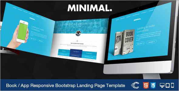 Ebook App Landing Page Template