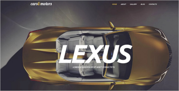 Editable Automotive WordPress Template