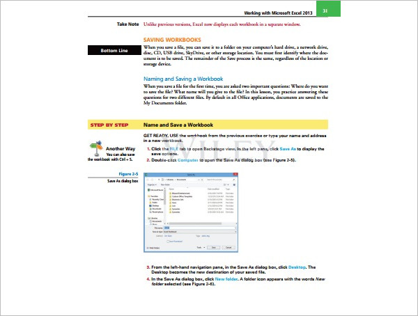 Editable Microsoft Excel Template