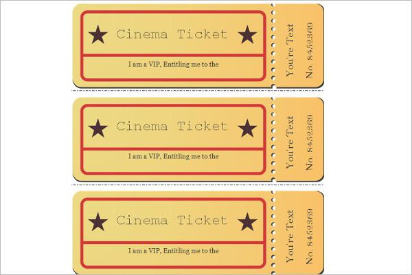Editable Movie Ticket VIP Template