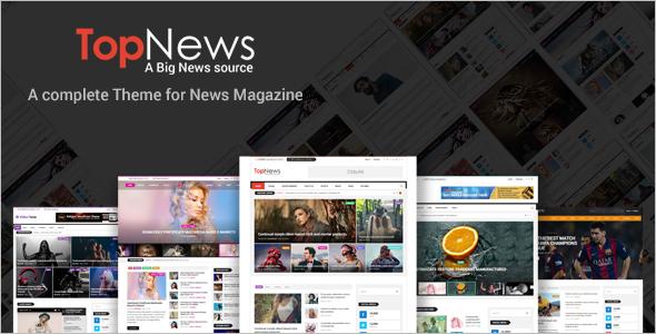 Editorial HomePage Website Template