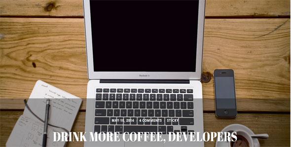 Elegant FullScreen Website template