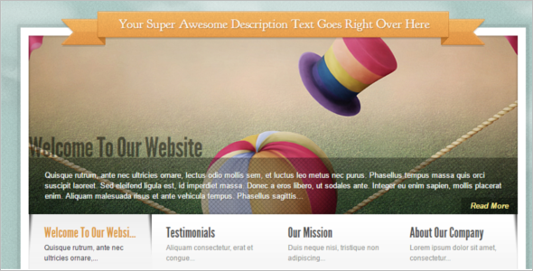 Elegant Homepage WordPress Template