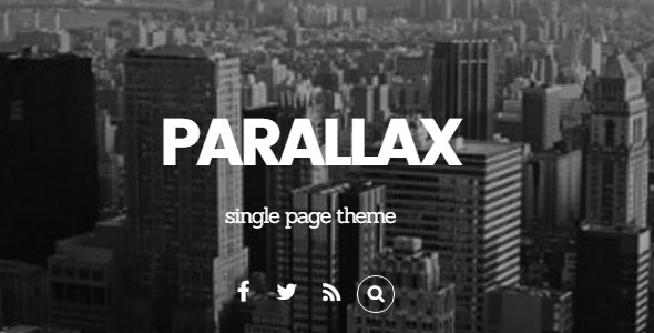 Elegant Parallex WordPress Template