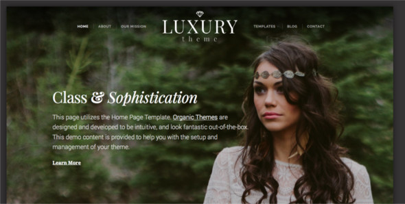 Elegant Photo Blog WordPress Template