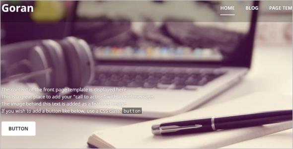 Elegant Screen WordPress Template