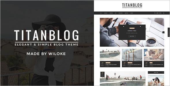 Elegant Writer WordPress Template