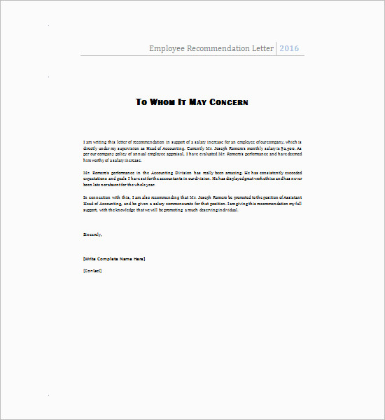 Employee-recommendation-letter