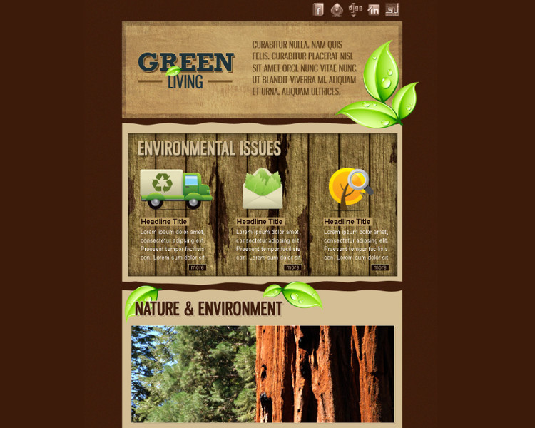 Environment HTML Email Template
