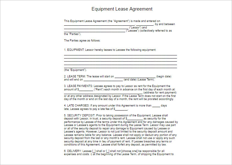 Lease Agreement Template  Free Word  Documents  Creative