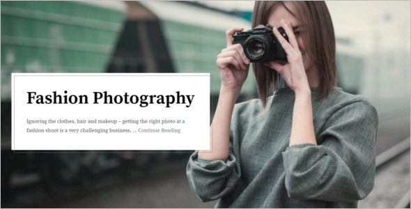 Fashion Blogger WordPress Template