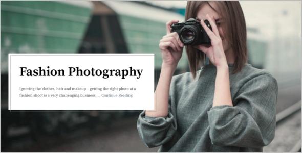 Fashion Blogger WordPress Template