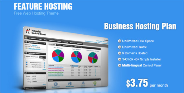Feature Hosting WordPress Template