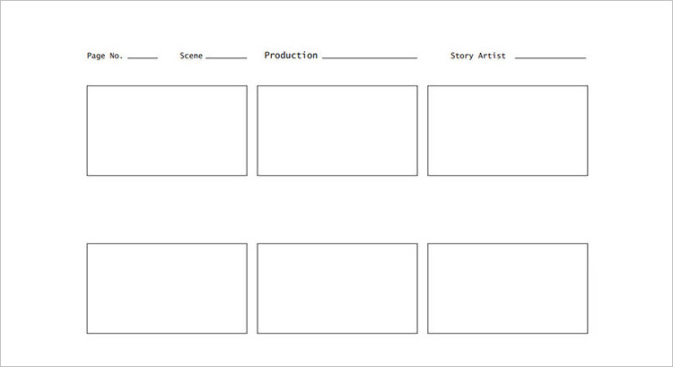 Film Story Board Template Word