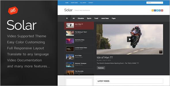 Film Video WordPress Template