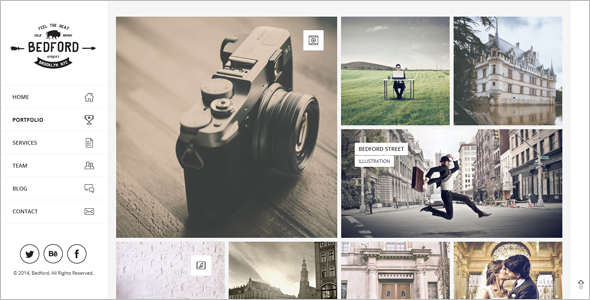 Flexible Grid Portfolio WordPress Theme
