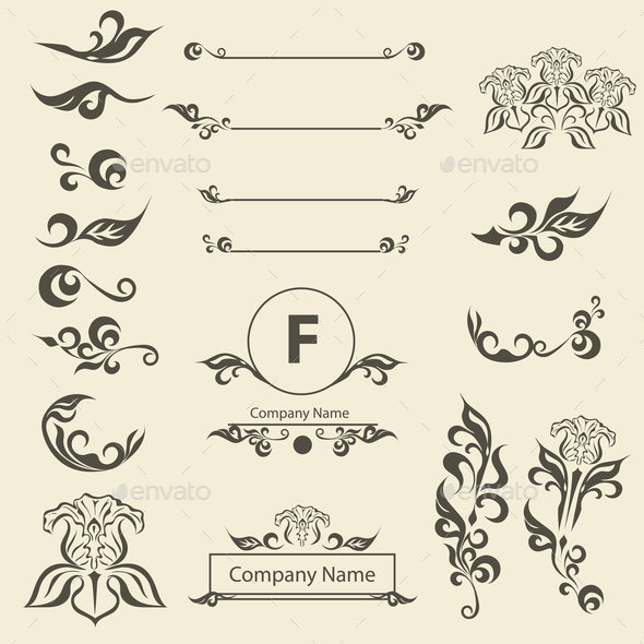 Flourishes Calligraphic Ornaments and Frames